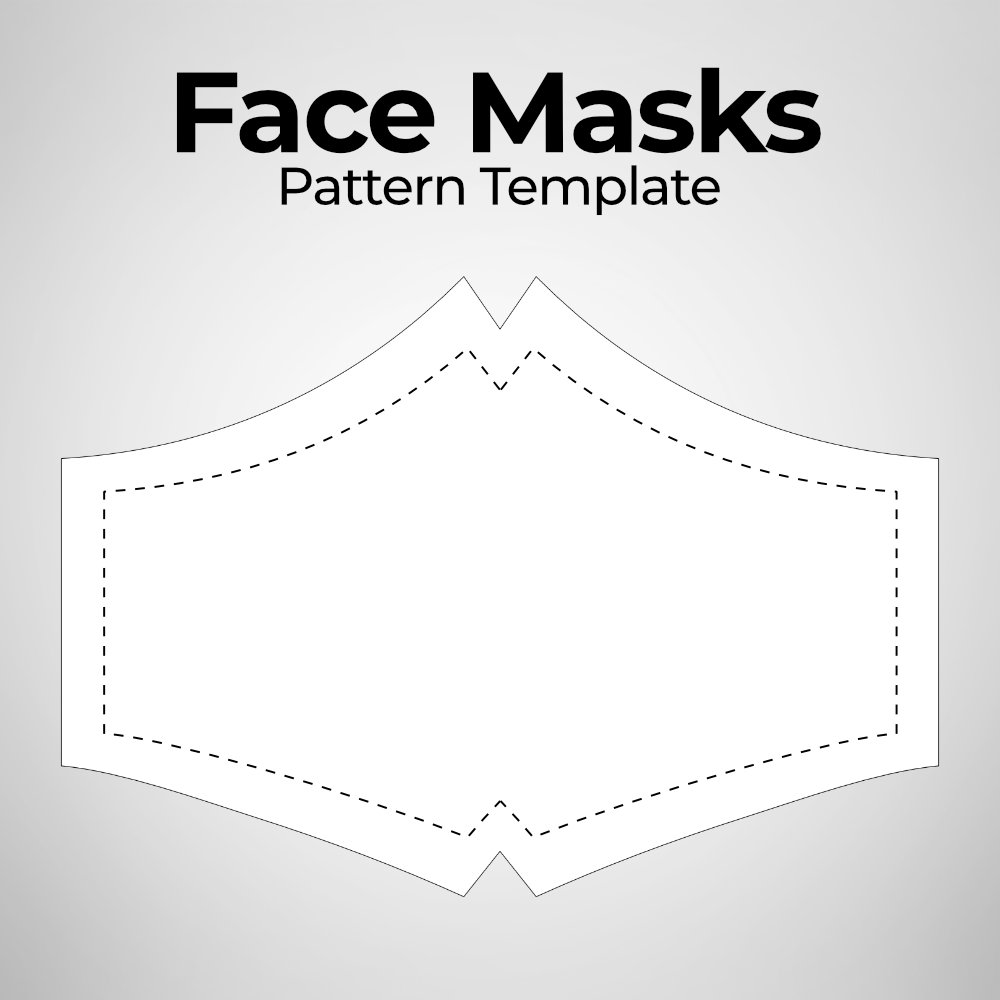 Face Masks Pattern Template Photoshop File
