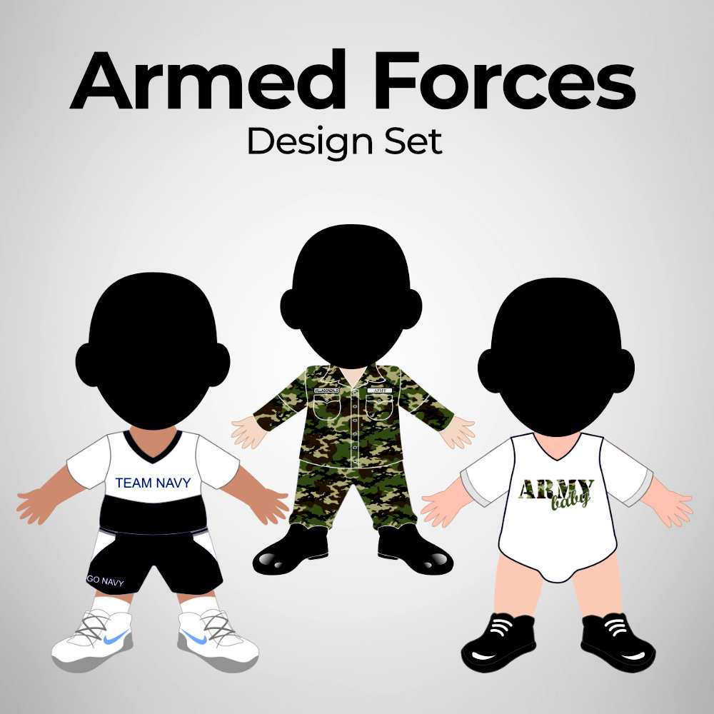 Armed Forces - Human Doll Pillows