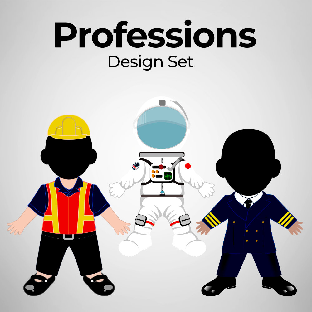 Professions - Human Doll Pillow Design Set