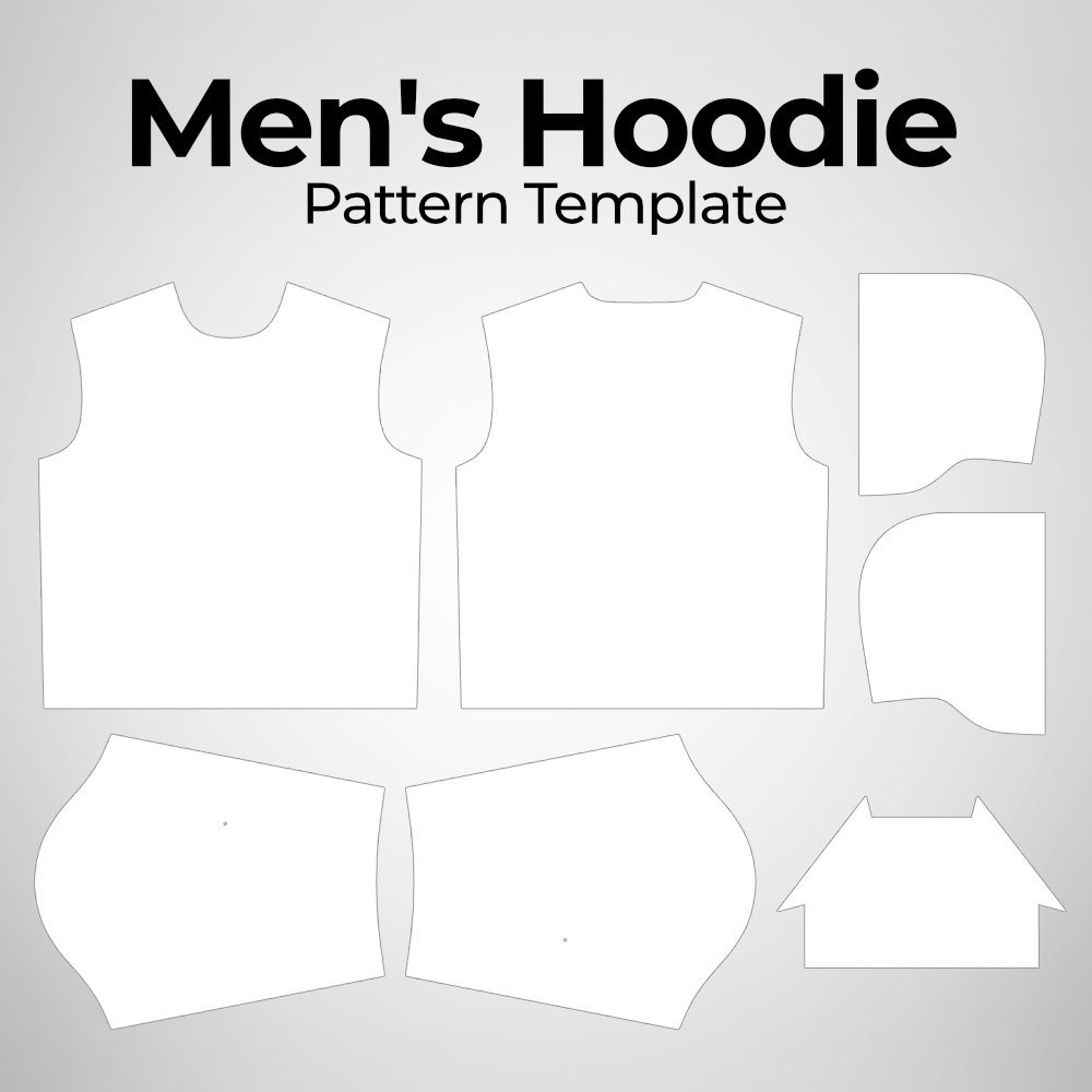 Men's Hoodie Pattern Template Photoshop PSD File