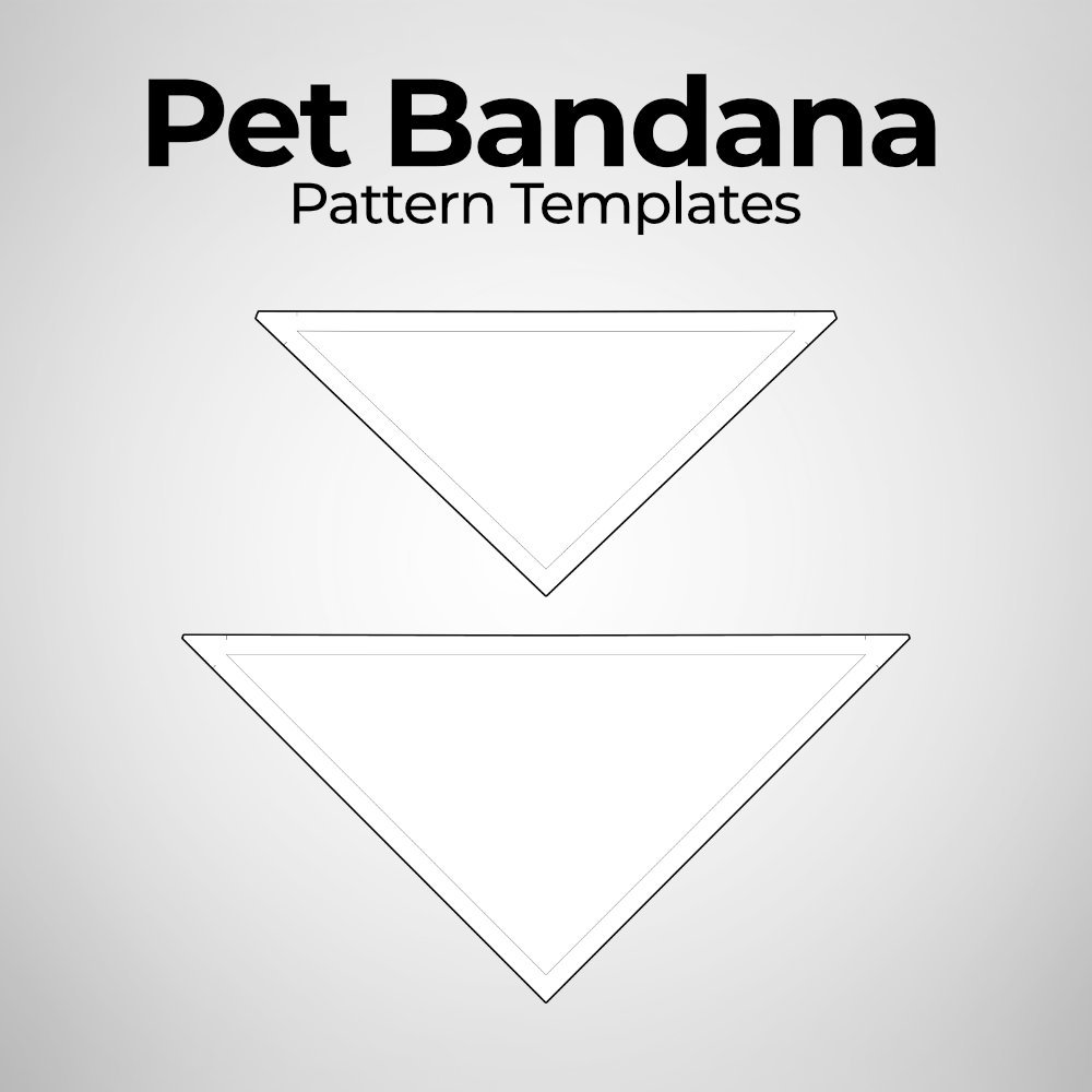 Pet Bandana - Pattern Templates