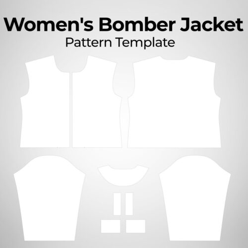 Womens Bomber Jacket - Pattern Template