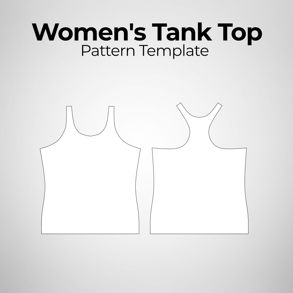 Women's Tank Top Pattern Template Photoshop Mockup