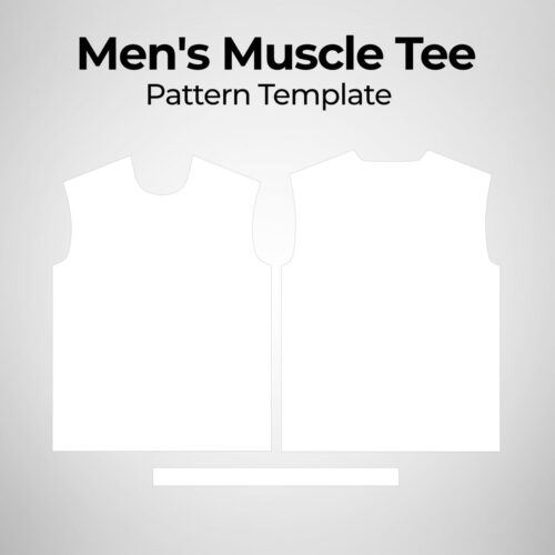 Mens Muscle Tee - Pattern Template
