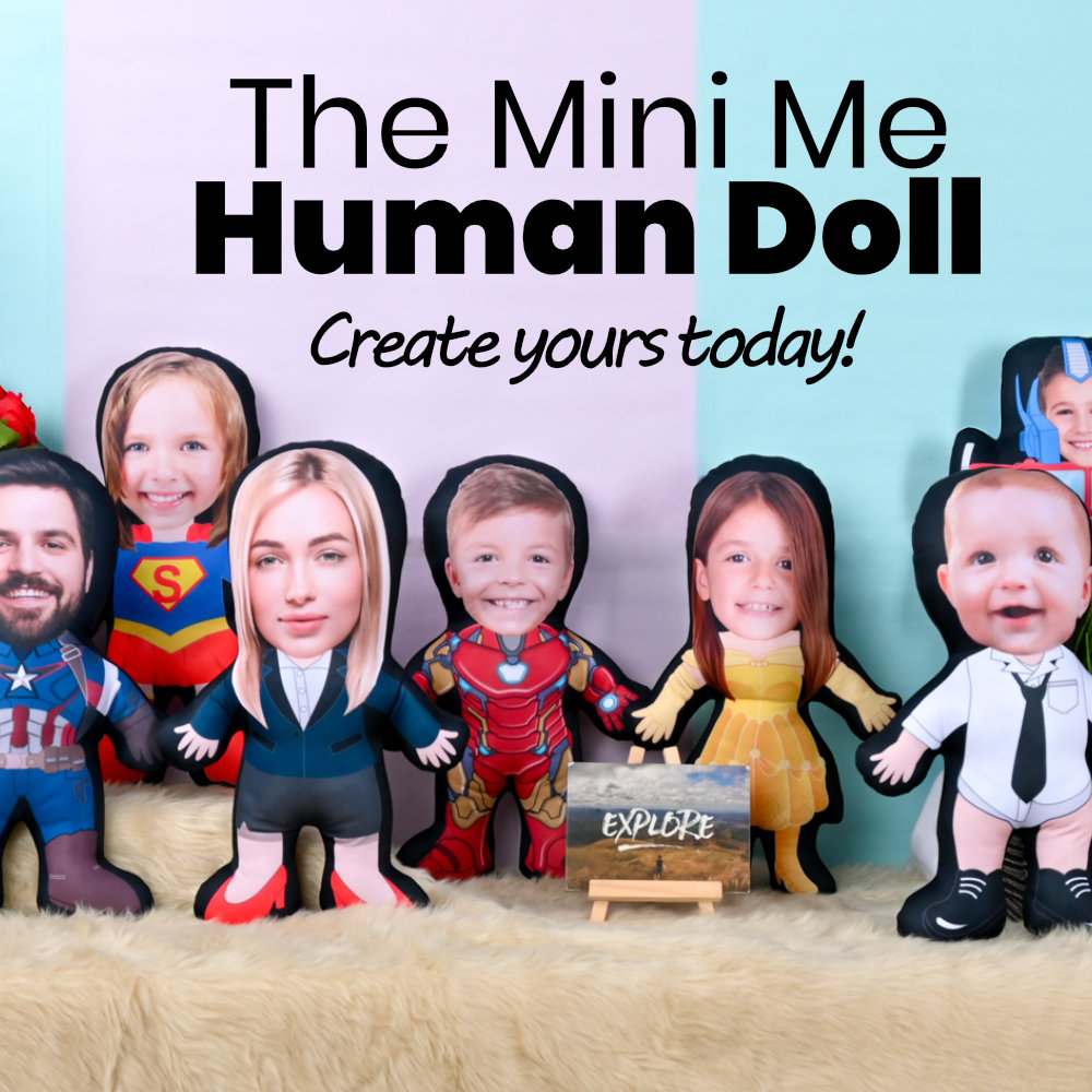 Mini Me Human Doll Pillow