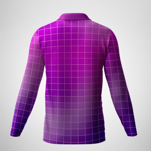 Men's Collared Long Sleeves Back